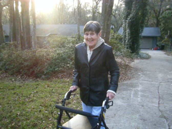 My mom enjoyed the daily walks, despite the cool temperatures.