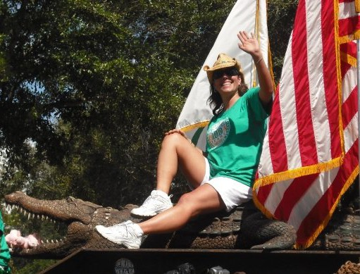 Brittany on a float in the local parade. She floats through life with a smile on her face and joy in her heart -- and manages to make others have the same.