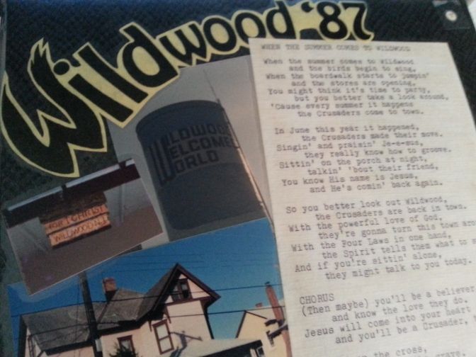 The cover of the scrapbook I made following my summer in Wildwood, N.J., a few years ago...