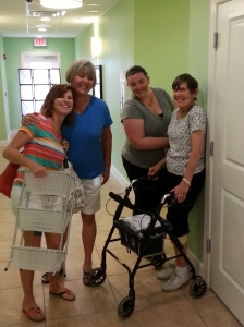 My sister Trish, Dixie, Cheryl, and my mom as I said good-bye. I was thankful I did not leave last.