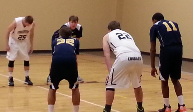 One of the reasons I have less time... the privilege of watching my son play varsity basketball his senior year. (He wears #22.)