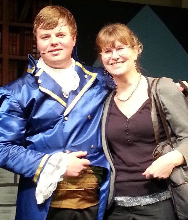 "My son after his final performance in ""Beauty and the Beast."" He played both a beast and a prince perfectly... just like in real life. :)"