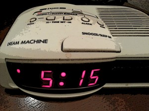 515 am alarm clock distorted