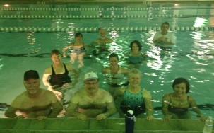 Our Aqua Zumba class.