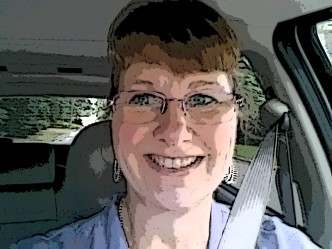 (When you're not great at shooting selfies while driving, transform them into sketches.... ) While I did ask my son how I looked before I left for my first day on the job, I didn't think about shooting a photo -- until I reached my first STOP sign. I look more happy than anxious. :)