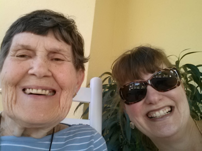 A selfie of my mother and I on my last visit.