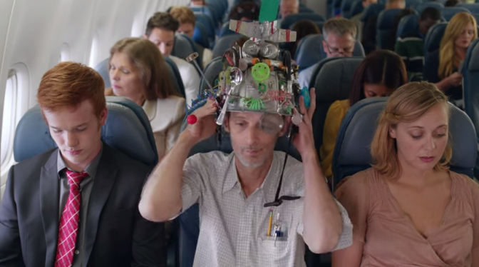 An image captured from the Delta In-Flight Safety Video No. 6. I have flown a lot this month, but this video presentation was the best I've seen. Informative and funny: https://www.youtube.com/watch?v=RbLV3gnhj60