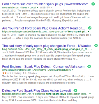 While Ford F150s get rave reviews, the spark plug issue does not.