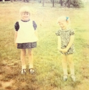 Our preschool days. I think this was the town's Easter egg hunt.